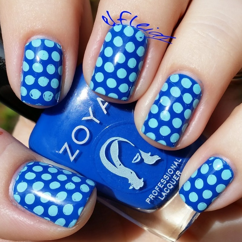 PAAManiMonday 11-09-2015 Diabetes Awareness nail art by Jenette Maitland-Tomblin