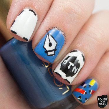 Graphic Artist nail art by Marisa  Cavanaugh