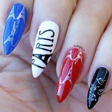 Pray for Paris nail art by Nora (naq57)