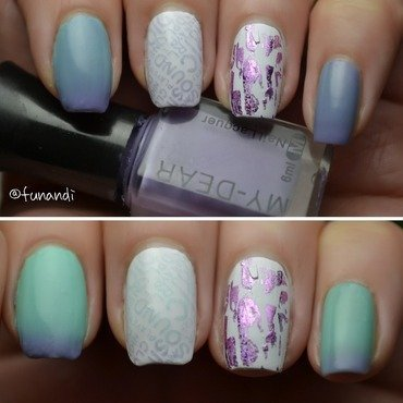 Thermal nail polish nail art by Andrea  Manases