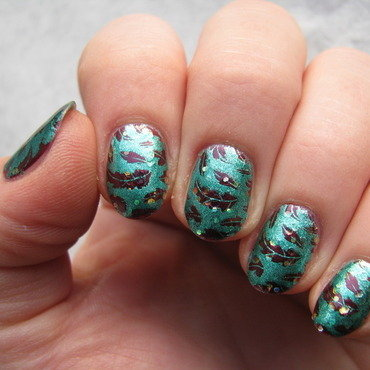 Autumn leaves nail art by Nail Crazinesss