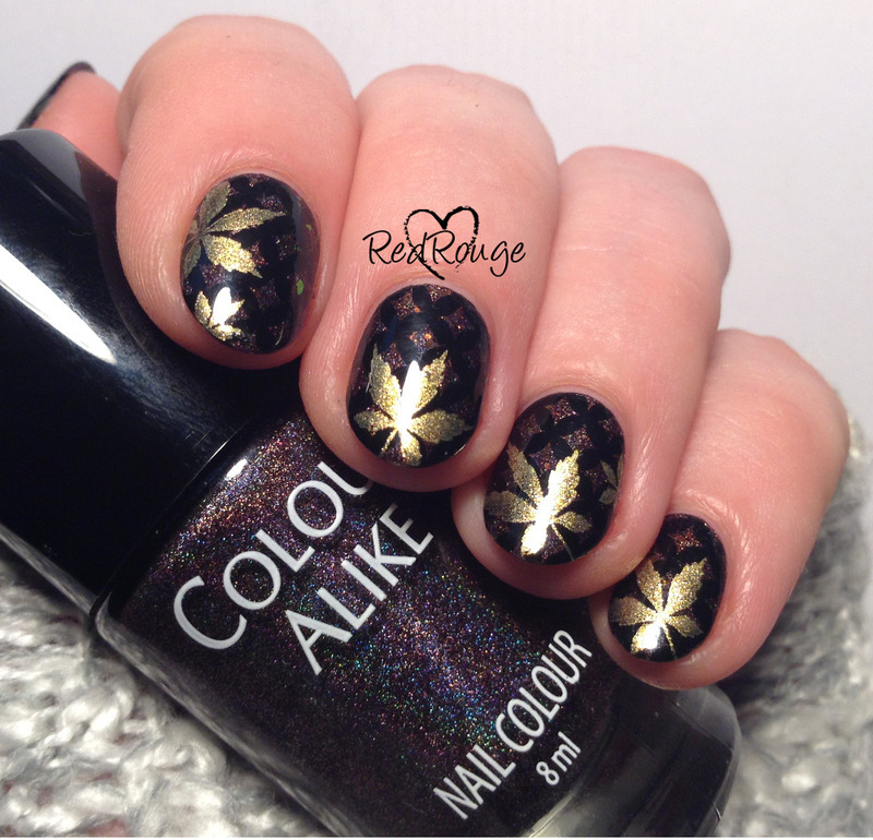 The dark side of autumn nail art by RedRouge