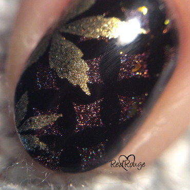 The dark side of autumn macro nail art by RedRouge