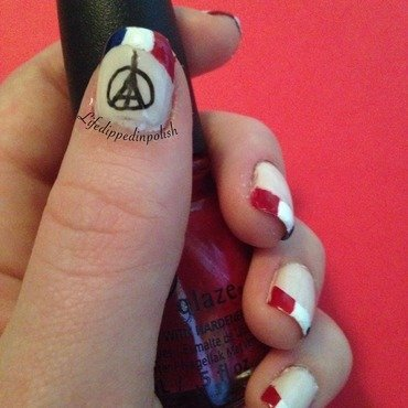 French Manicure nail art by lifedippedinpolish