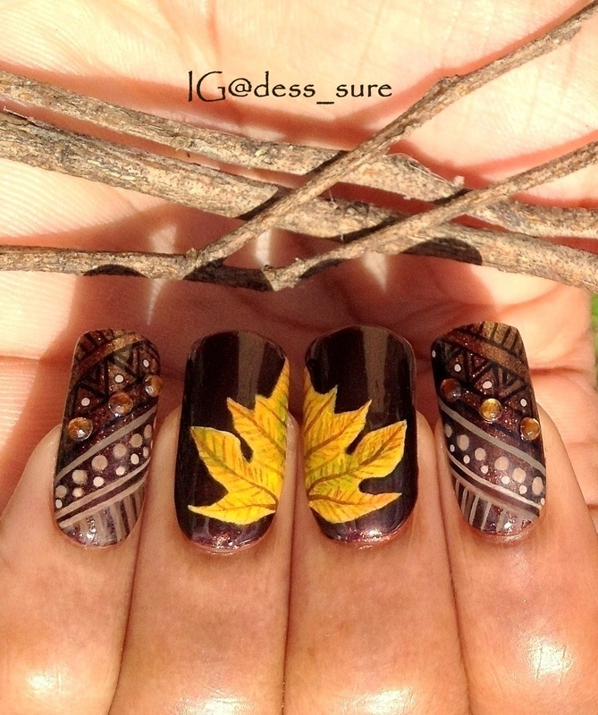 Dark Tribes nail art by Dess_sure