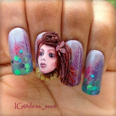 In The Purple Woods nail art by Dess_sure