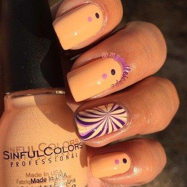Skylark Creme & Swirl nail art by Alayna  B
