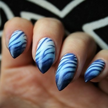Blue lagoon nail art by Jane