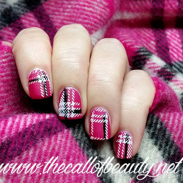 Nail 20art 20of 20the 20day 20  20hot 20pink 20burberry 20nails 20 20  20wm thumb370f