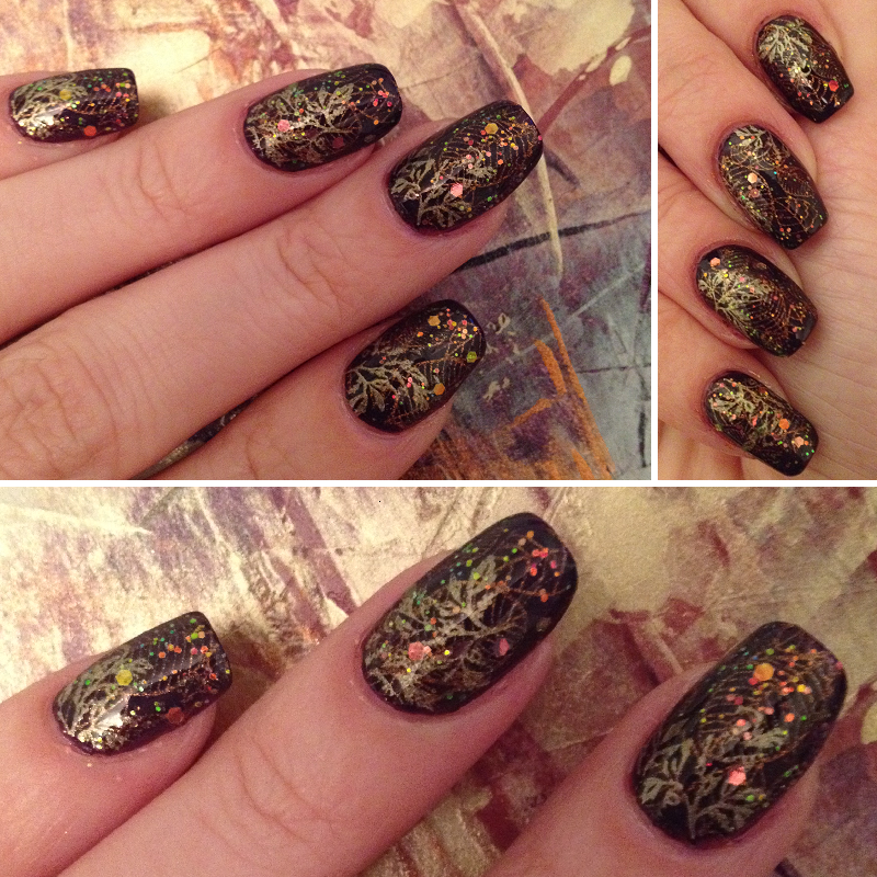 Fall Magic nail art by Rox