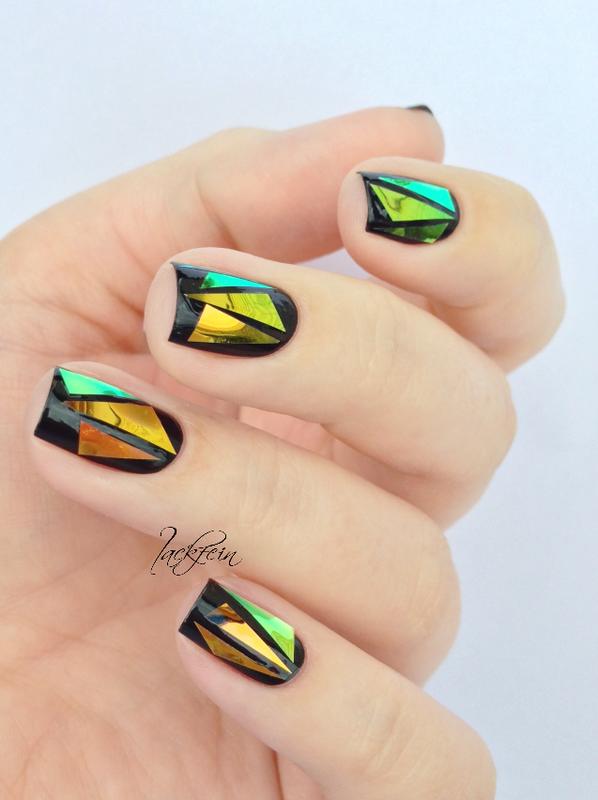 Glass Nails nail art by lackfein