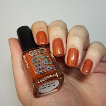 Nine Zero Lacquer Pumpkin Everything Swatch by Danny