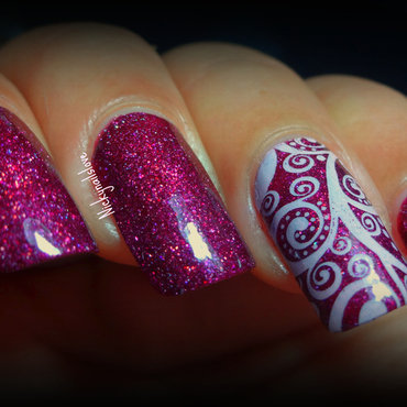 Something Simple nail art by Nicky
