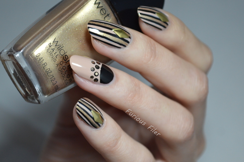 Glamming up  nail art by Furious Filer