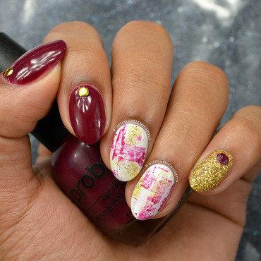Autumn Dry Brush nail art by Fatimah