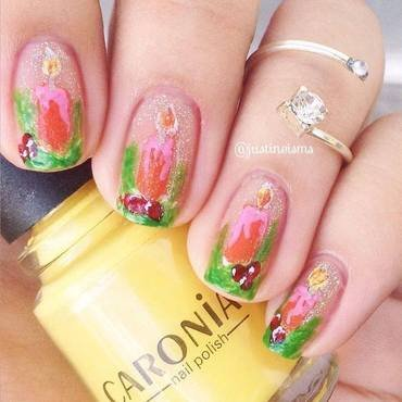 Christmas Candles nail art by ℐustine