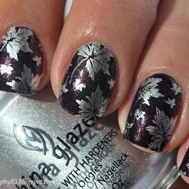 Autumn leaves nails nail art by Hana K.