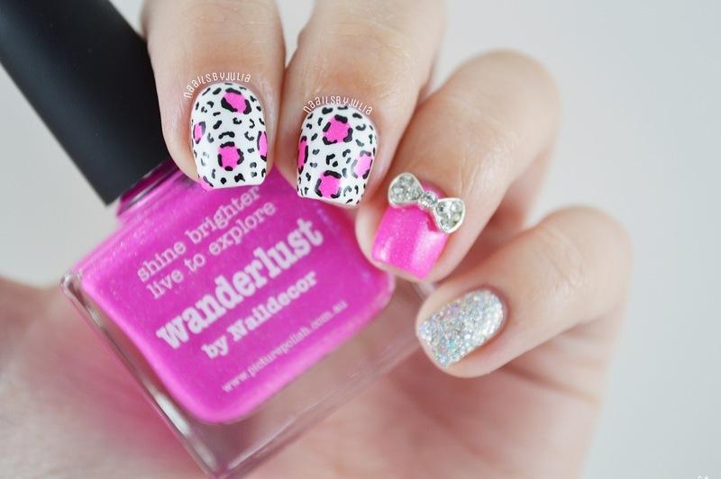 Leopard nail art by Julia