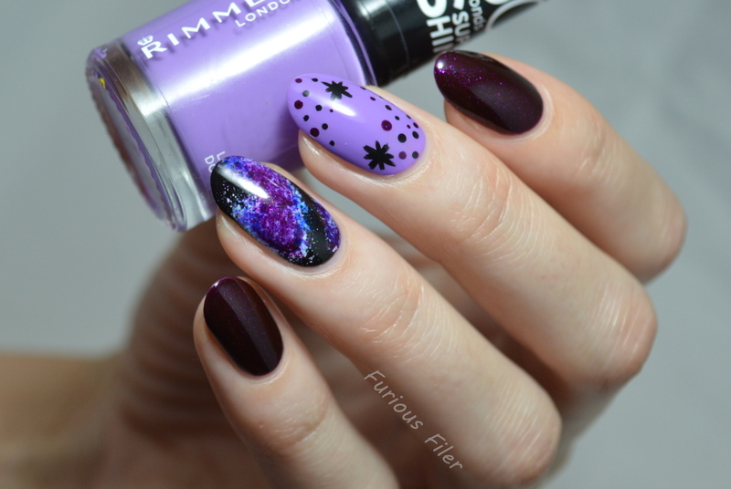 A (Milky) Way To My Heart nail art by Furious Filer
