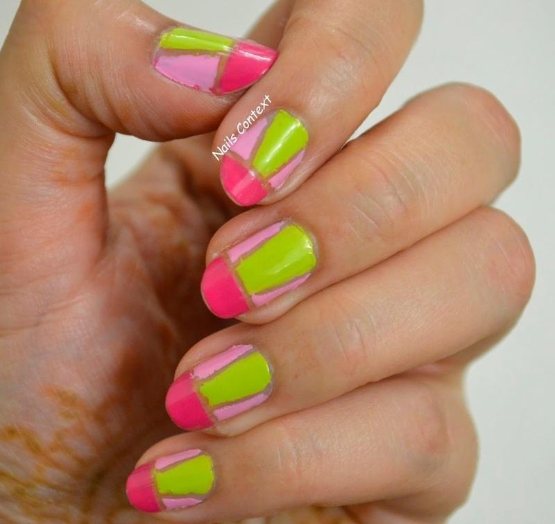 Negative Space Nails  nail art by NailsContext