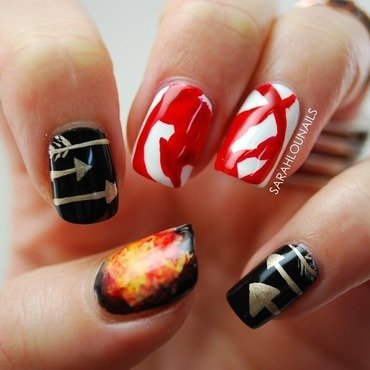 Mockingjay Part 2 Nails! nail art by Sarah S