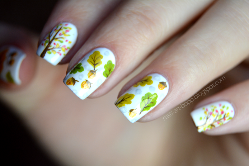 Funnu autumn nail art by bopp