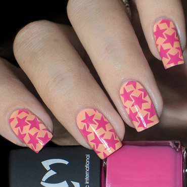 Vernis stamping Rose Girly - LM nail art by Lizana Nails