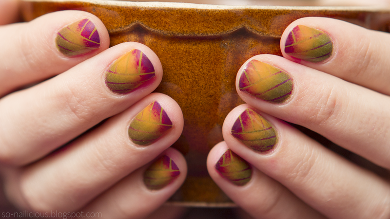 40 GNAI Reciprocal gradient nail art by Magdalena