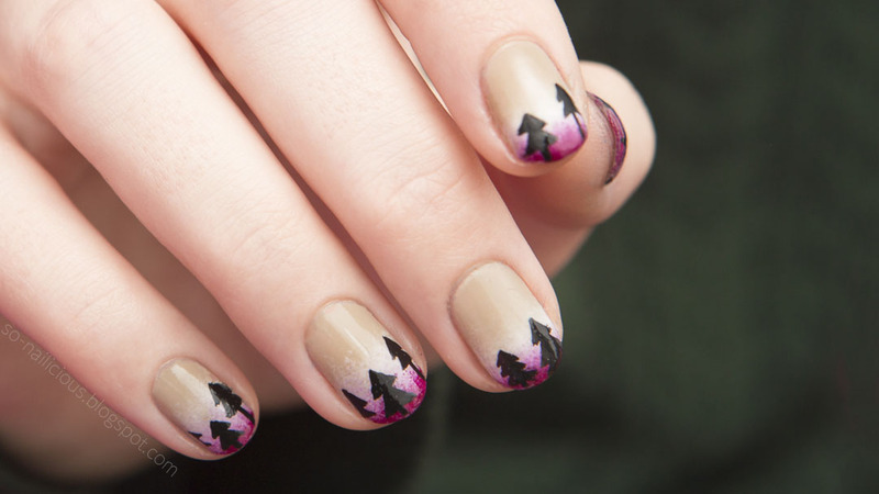 Forest nail art by Magdalena