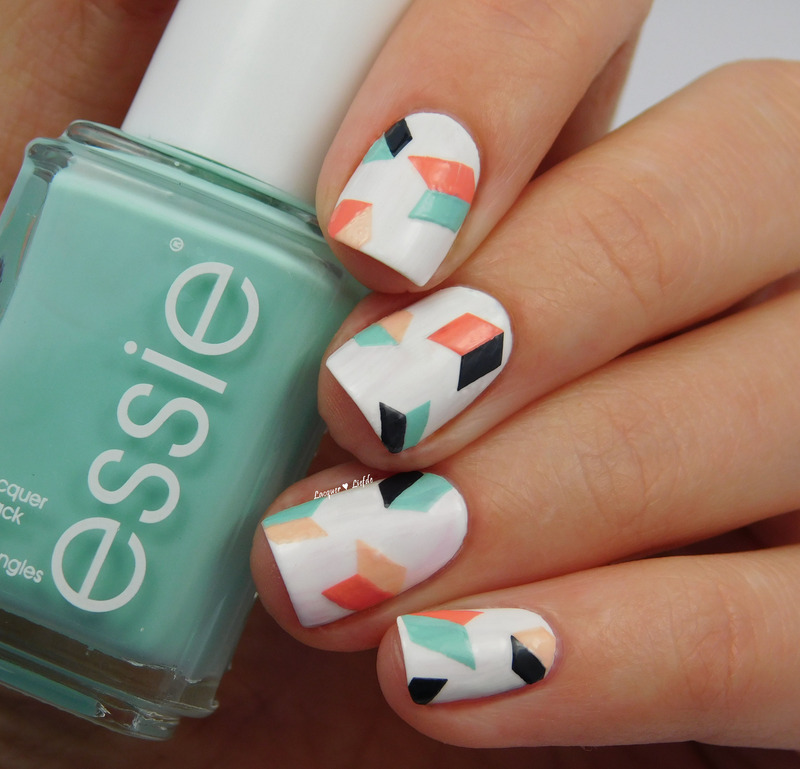 Geometric Nails nail art by Anna