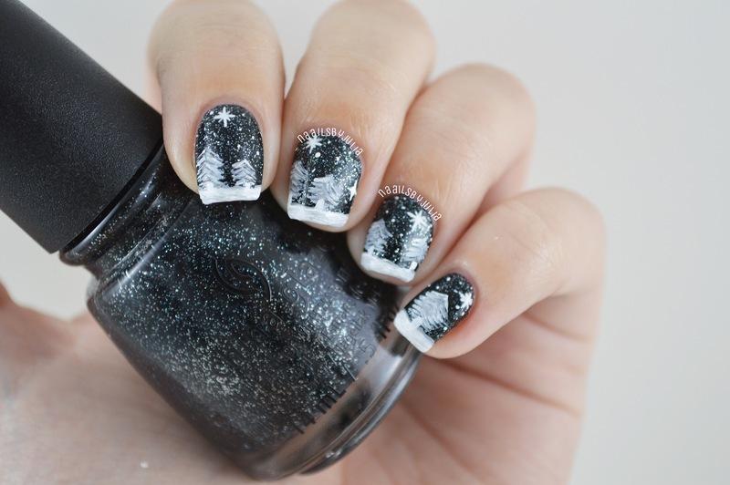 Meet me under the stars nail art by Julia