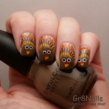 Thanksgiving nails nail art by Gr8Nails