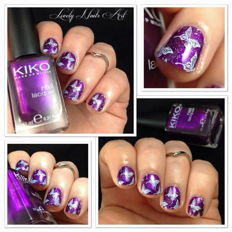 Nail art stamping *papillons* nail art by Lovely Nail's  Art