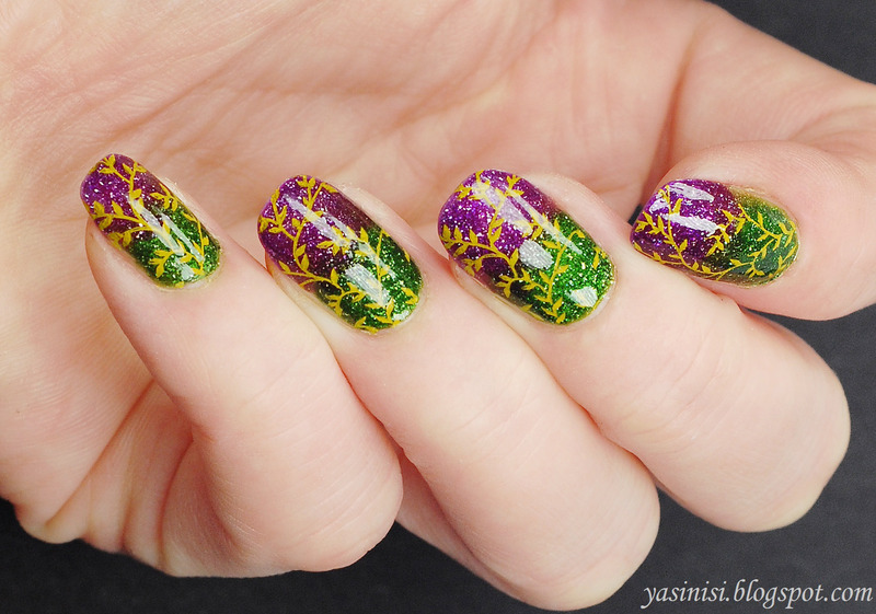 Secret Garden nail art by Yasinisi