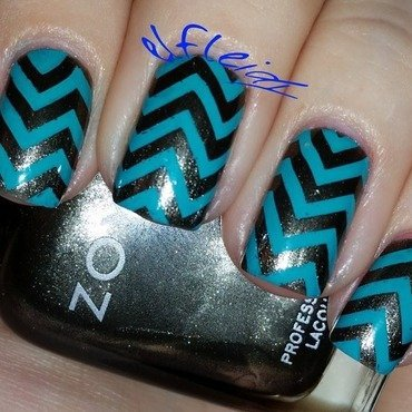 40 Great Nail Art Ideas- grey and color nail art by Jenette Maitland-Tomblin
