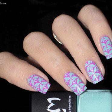 Vernis à Stamping Menthe - LM nail art by Lizana Nails