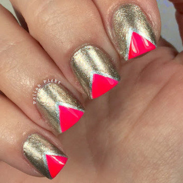 Chevron Tips nail art by Crystal Bond