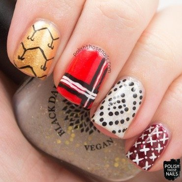 Fall winter transition scarf nail art 4 thumb370f
