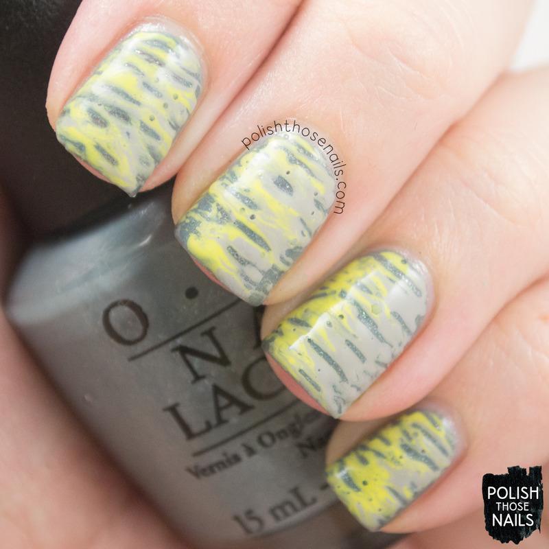 Dragged Color nail art by Marisa  Cavanaugh