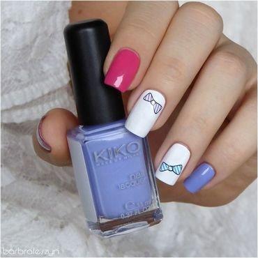 Cute little bow nail art by barbrafeszyn