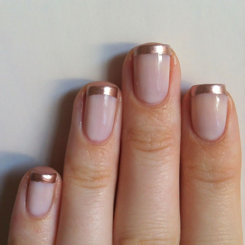 Rose Gold French Manicure nail art by wonita