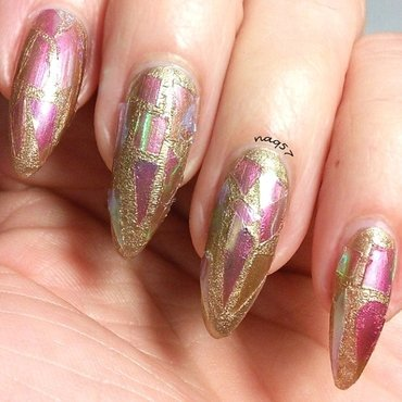 Crackle & Glass nail art by Nora (naq57)