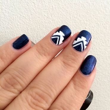 Aztec Nails nail art by Dhrupa Oza