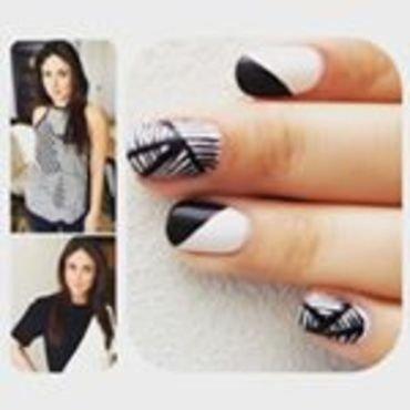 Monochrome Nails nail art by Dhrupa Oza