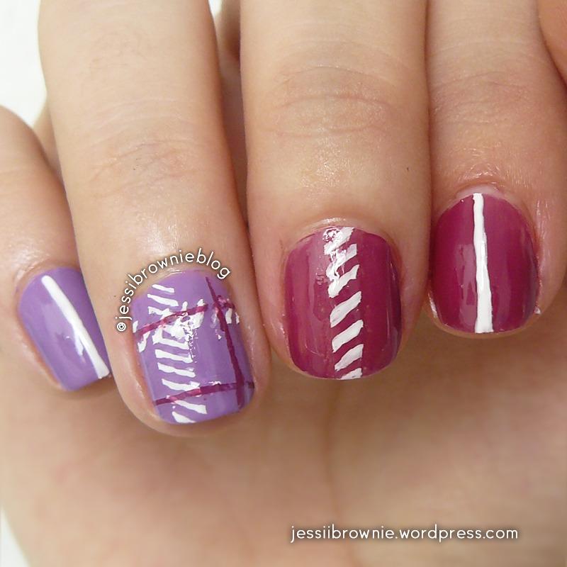 Cute Purple Plaid nail art by Jessi Brownie (Jessi)