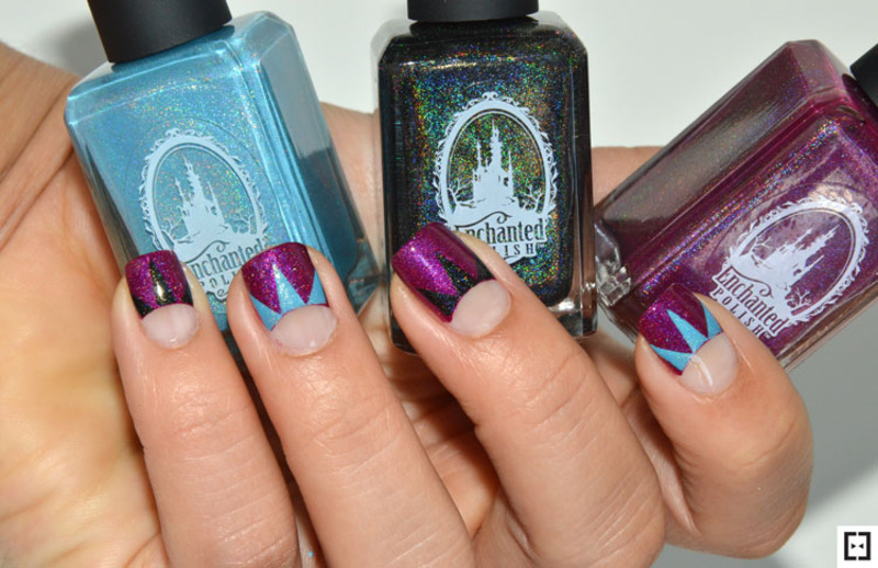 Half moon crown nails nail art by Sweapee