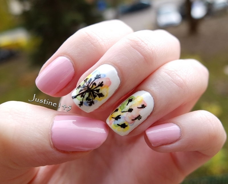 delicate dandelions nail art by Justine145