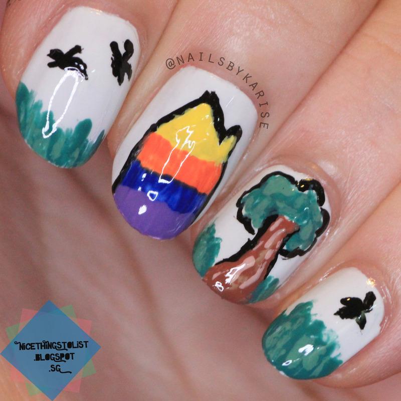 Home nail art by Karise Tan