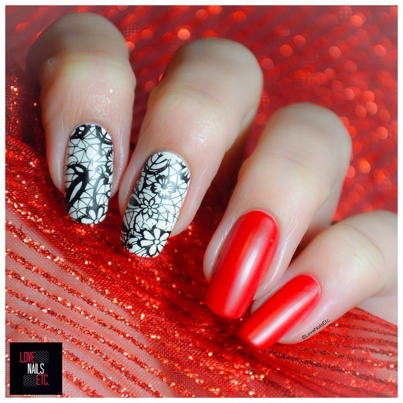 Lace nail art by Love Nails Etc