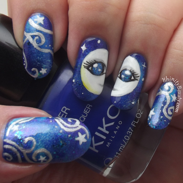 Mother Moon nail art by Ithfifi Williams